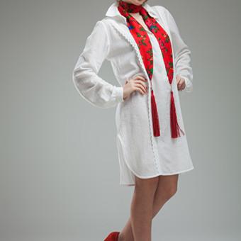 Rochia camasa cu model vertical si spate dublat1