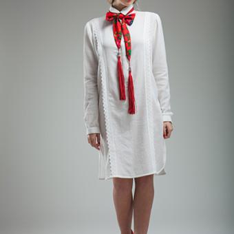 Rochia camasa cu model vertical si spate dublat11