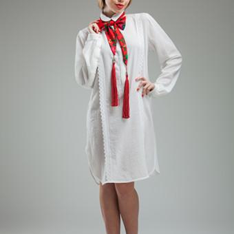 Rochia camasa cu model vertical si spate dublat3