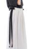23 Pantaloni panza topita cu panglici negre (5)