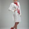 Rochia camasa cu model vertical si spate dublat10